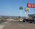 Somewhere In New Mexico we saw this cute Route 66 Restaurant with a nice view