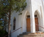 A cool, but very run down, old church in Tucumcari New Mexico