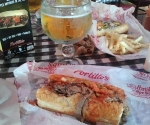 Portillos for lunch.  Holy Yumminess!
