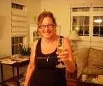 Mom gets a champagne glass for her beer!  :)