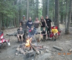 All of us at the campsite
