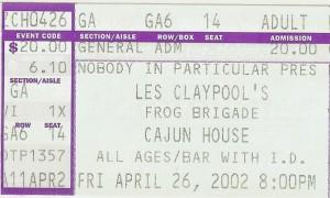 Les Claypool Scottsdale 2002