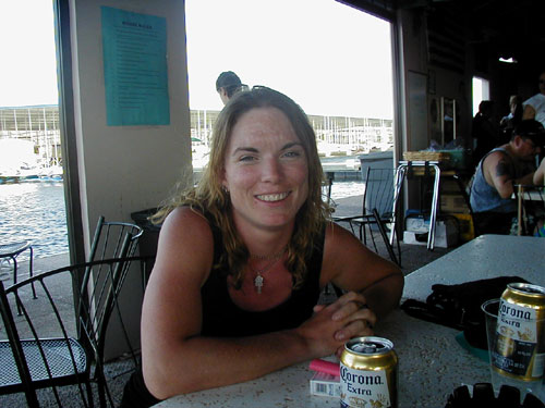 Cheryl! at the bar