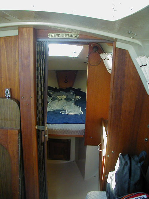 Sleeping quarters on the boat