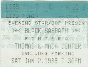 Black Sabbath Las Vegas 1999