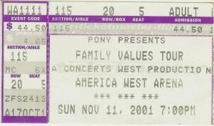 Family Values Tour Phoenix 2001