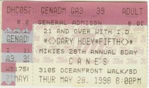 Gary Hoey San Diego 1998