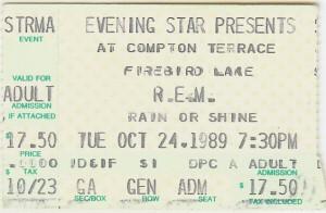 REM Concert 1989