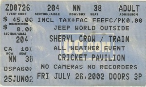Sheryl Crow Phoenix 2002