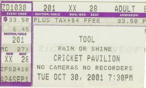 Tool Phoenix 2001